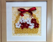 Wall hanging crochet picture