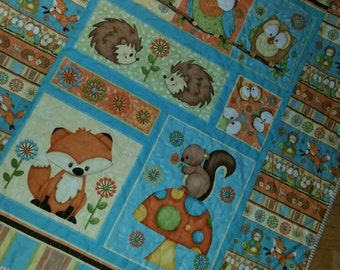 Woodland Nursery, Owl, Boy Crib Bedding, Quilt, Nursery Bedding, Crib Quilt, Baby Blanket, Baby Bedding, Blanket, Baby G