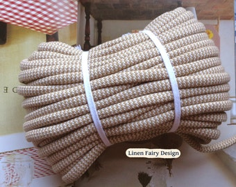 WHOLESALE 30 meters Cotton Rope Beige and Raw Cotton 10 mm Skein Cotton Cord With Filling for Crafts Jewellery Decorations
