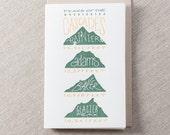 Peeks of Cascades Letterpress Greeting Card