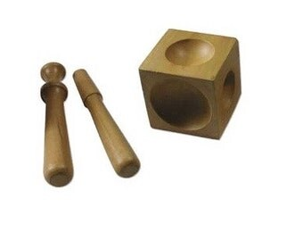 Dapping Block Set with punches, Dapping Block, dapping tools, Wood Dapping Block, Dome Punches, metal forming tools, stamping tools