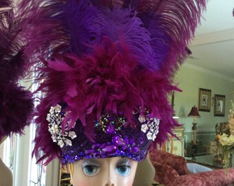 Purple Bra Hat,.
