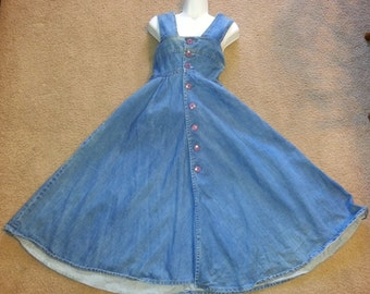The New Line Vintage Jean Overall Style Dress