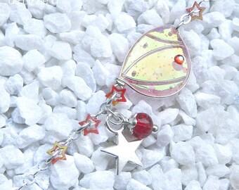 "Starry Fairy"" Bracelet, Wing 1 Silver / Coral Twinkle"