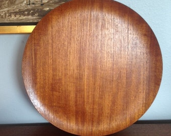 National Crafts Council Teak bentwood plate