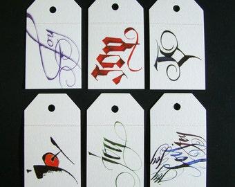 Christmas Gift Tags, Set of 30 Iridescent Tags, Holiday Gift Tags