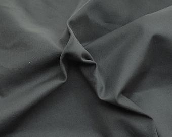 Organic Cotton Twill Fabric by the Yard Dark Gray 10/15