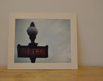 Le Metro, Paris, France -  Photography Print (10 x 8) and Picture Mount (12 x 10)