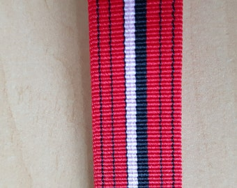 Vintage Trimming/Braiding Nylon Trim Tape.  Red and Balck. Selling per metre