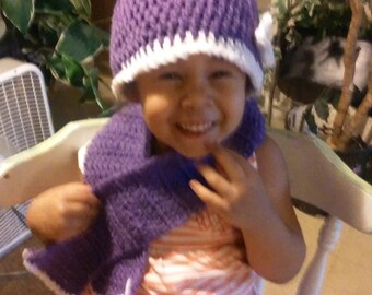purple hat set