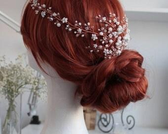 Bridal Crystal Floral Headpiece Hairvine