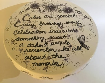 Sharpie Art Porcelain Cake Stands