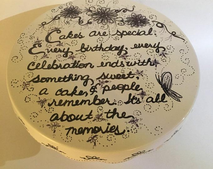 Sharpie Art Porcelain Cake Stands