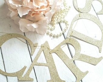 glitter cards garland gold glitter cards sign bunting