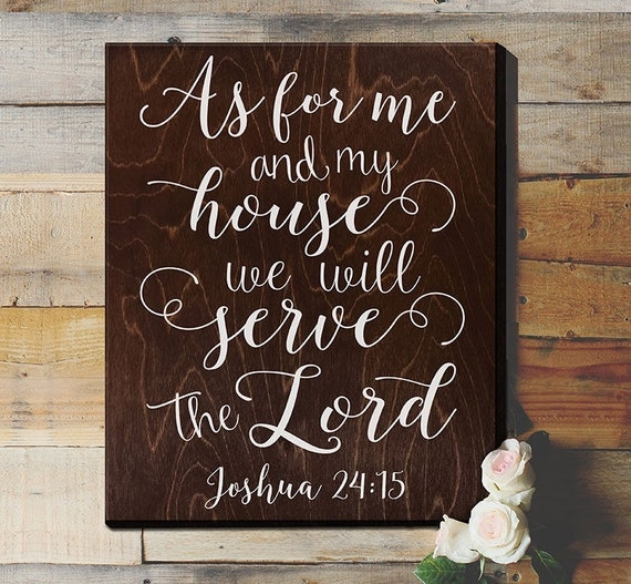 As For Me And My House Sign Scripture Wall Art By Elegantsigns