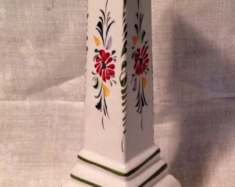 HandPainted Candle Holder-Gorgeous Floral Design-Portugal-738 By Reel
