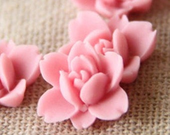 12 pcs of resin lotus flower cabochon RC0011-36-new pink