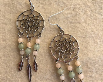 Dream Catcher Pastel Gemstone Earrings