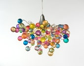 Pastel bubbles Lighting hanging chandeliers  for girls bedroom, living  room, bathroom or dinning table.