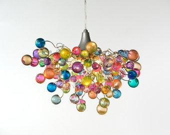 Lighting Hanging Chandeliers With Pastel Bubbles For Girls Bedroom Living Room Bathroom Or Dining