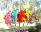 Enchanted Forest Wedding, Unicorn Birthday, Enchanted Forest Party, Unicorn Baby Shower, UNICORN, Lollipop Favors, ASSORTED - Ready to Ship