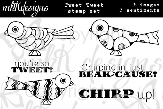 Tweet Tweet Digital Stamp Set