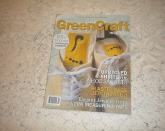 Stampington & Co GREENCRAFT Art..Crafting Magazine..Upcycle..Recycle..Sustainable Projects..Repurpose Clothing..Mixed Media