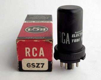 RCA 6SZ7 metal vacuum tube - new old stock - excellent condition - in original box - tested