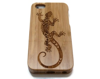 Iphone 7 case wood - wooden iphone 7 case walnut, cherry or bamboo wood - Lizard