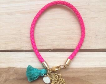 Bohemian Summer - neon pink and hamsa