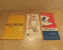 Civil Defense Fall Out Protection Brochures Booklets
