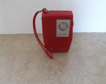 Red Genesonic Transistor Radio