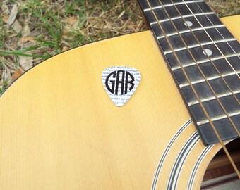 Custom Monogram Guitar Pick