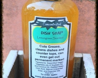 Lemongrass Scented All Natural Dish Soap   All Natural Dish Soap   Concentrated Dish Soap   Dish Wand Soap   Best Natural Dish Soap