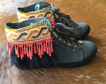 Boho Sneakers - Ibiza Sneakers by Dazzling Gypsy Queen
