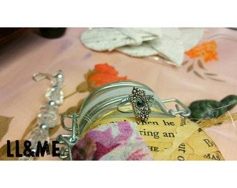 Victorian style black gem midi ring, boho, gypsy, bohemian, steampunk, bride, bridesmaid, goth