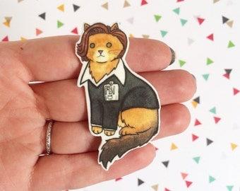 Special Agent FBI Cat - Halloween Cat Brooch Gillian Anderson Cat Pin -  cat pin - Halloween Pin - cat jewelry-Unique Boutonnière