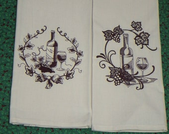 Wine Guest Towel Set