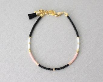 Beaded bracelet // mixed beaded bracelet