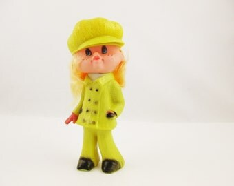 A 1960s 'Fashion Annie' Doll in Original Package - 'Made in Hong Kong' - Hard Plastic Doll in 1960s Chic - Long Blonde Hair - Classic