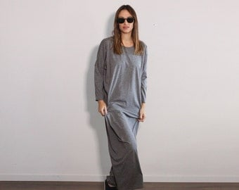 Plus Size Maxi Dress, Oversized Dress, Maxi Kaftan Dress, Plus Size Caftan, Trendy Plus Size Clothing, Minimalist Dress, Long Sleeve Dress