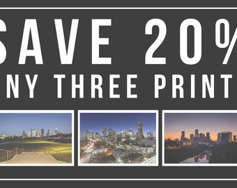 SPECIAL OFFER - Save 20% - Select any THREE prints