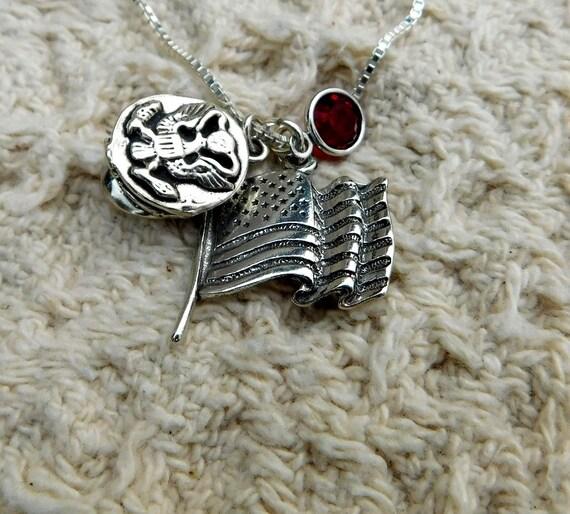 Sterling silver Navy necklace, dress uniform, military jewelry,  proud mom necklace, Navy girlfriend jewelry, Navy wife jewelry