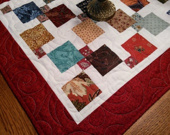 Scrappy Patchwork Rustic  Quilted Table runner