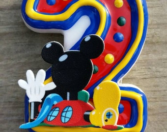 Mickey Mouse Birthday Candle, Mickey mouse clubhouse