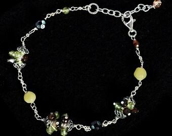 Peridot & Sterling Silver Bracelet