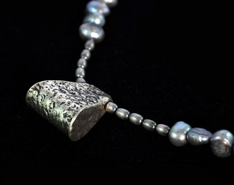 Hill Tribe Silver & Pearl Necklace