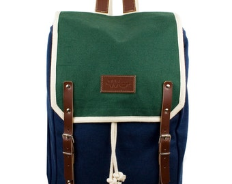 Mosul Levanto Backpack. Mediterranean Inspired. Nautical bag . Men's Backpack