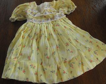 Fancy Yellow Newborn Dress