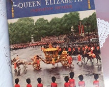 Vintage book: 'The Queen Elizabeth Coronation Souvenir, hardcover with dust jacket
